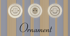 Keramické vypínače a zásuvky Mulier Ornament
