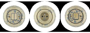 Porcelánové zásuvky a vypínače zelené blob vyrábíme v čechách